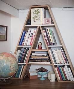 most creative bookshelf ever house ideas pinterest With letter bookshelf
