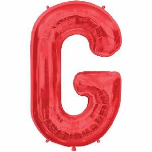 letter g 34 inch foil balloon With red mylar letter balloons