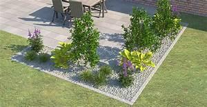 beeteinfassung terrassenumrandung setzen obi gartenplaner With französischer balkon mit große steine für garten preise