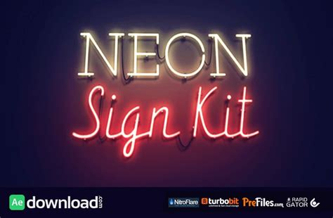 free ae templates neon sign kit videohive after effects template free free after effects template