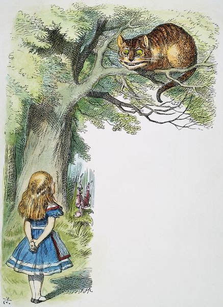 Alice And The Cheshire Cat Illustration By Sir John