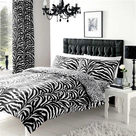 zebra and leopard print king size reversible duvet cover