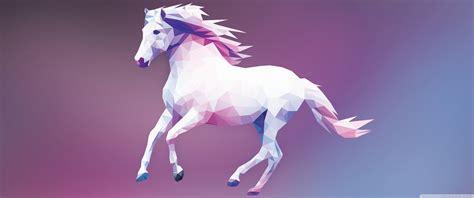 horse polygon design ultra hd desktop background wallpaper