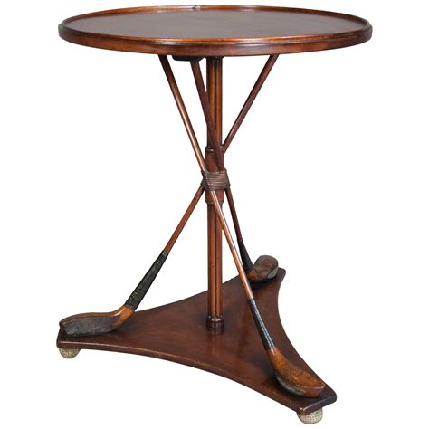 Unusual Maple Golf Club Occasional Table For Sale At 1stdibs