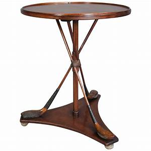 unusual maple golf club occasional table for sale at 1stdibs With golf coffee table