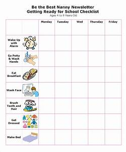 Personal Cleanliness Chart How To Be The Best Nanny Getting Ready For School Checklist