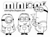 Minion Coloring Drawing Cartoon Minions Printable Outline Simple Movie Banana Activities Pencils Crayon Draft Pens Rough Badge Beginners Fill sketch template