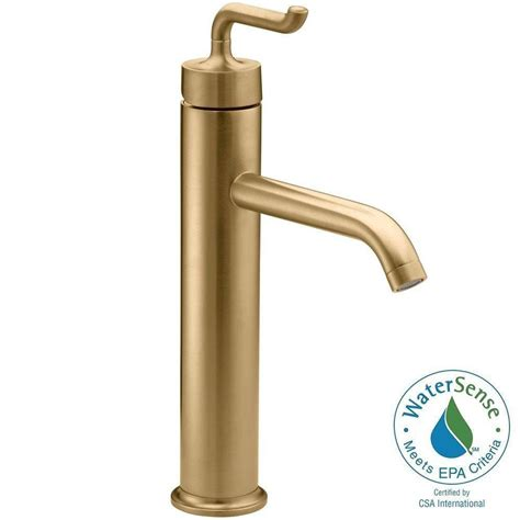 brushed gold bathroom faucet kohler purist 1 single single handle low