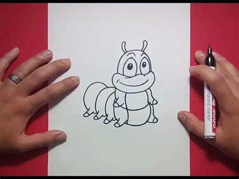 como dibujar  gusano paso  paso    draw  worm