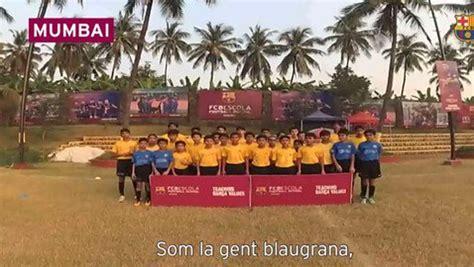 El himno del Barça en los cinco continentes