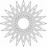 Coloring Complex Pages Adult Geometric Printable Flower Lds Star Pattern Printables Children Doodles Thesunflowerpages Fun sketch template