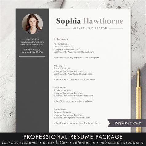 resume template with photo professional modern cv