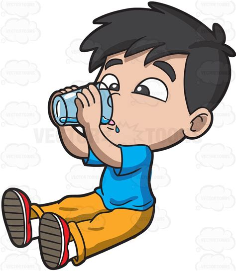 watermark floor clipart a thirsty boy water