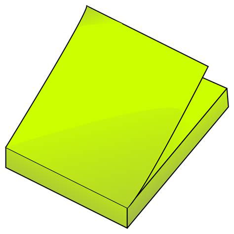 post it bureau pc yellow post it png clipart best