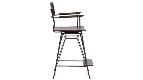 elston swivel counter stool crate  barrel