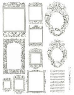 ornate princess textured clip art frames product