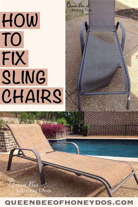 repair sling chairs chaises outdoor sling chair
