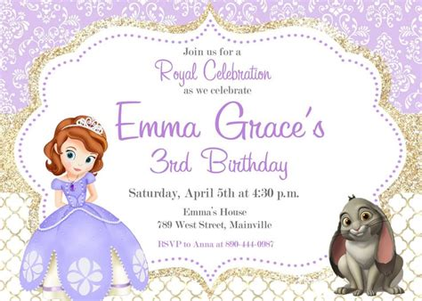sofia the free invitation templates invitation template sofia the invitations free birthday invitation