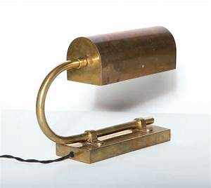 Brass ralph lauren desk lamp at 1stdibs for Ralph lauren floor lamp brass