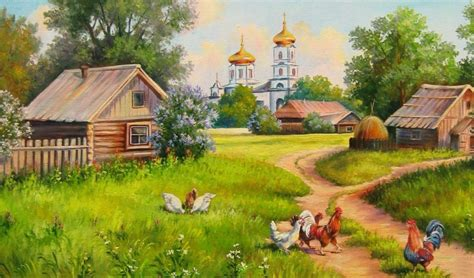 painting house  village wallpaper hd wallpaper