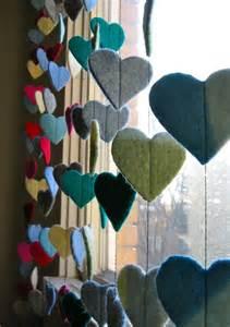 Valentines Heart Garland Felt