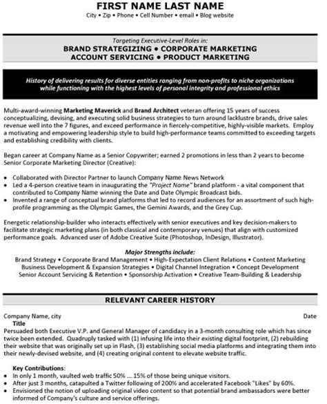 Brand Strategist Resume by Top Advertising Resume Templates Sles