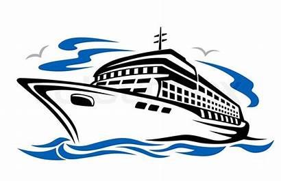 Ship Cruise Clip Clipart Silhouette Cartoon Boat