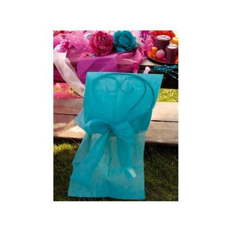 housses de chaise intiss 233 turquoise avec noeud d 233 corations de salle