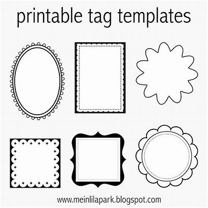 Printable Tags Templates Labels Blank Tag Gift