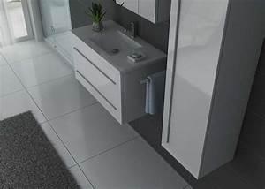 Meuble Simple Vasque : meuble salle de bain ref nova b ~ Teatrodelosmanantiales.com Idées de Décoration