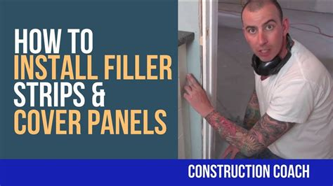 how to install a cabinet filler how to install filler strips cover panels diy youtube