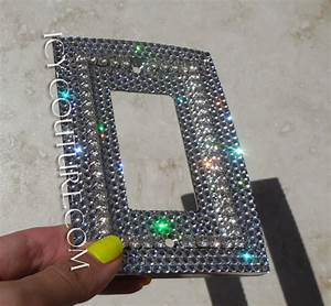 Phone Light Switch Single Rocker Style Bling Light Switch Plate Cover With 3d