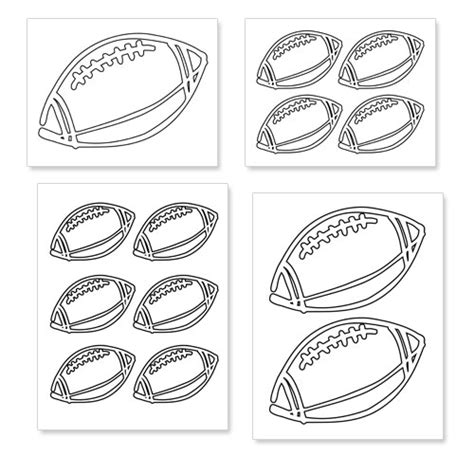 football template printable free printable football shapes printable treats