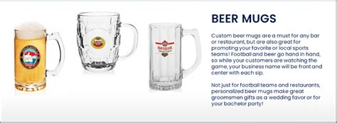 Buy Custom Promotional Beer Mugs, Personalized Beer Mug Online