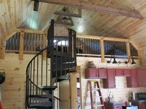 spiral stairs      story cabin  michigan