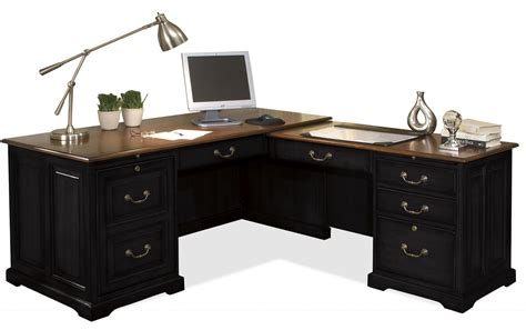 l shaped computer desk with drawers furniture black wooden l shaped desk with drawers and