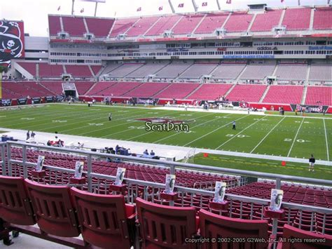 stadium club raymond james stadium football seating rateyourseatscom