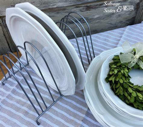 diy farmhouse chicken feeder trough plate rack salvage