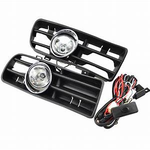 1 Set Front Fog Lights With Racing Grills  U0026 Wiring Harness