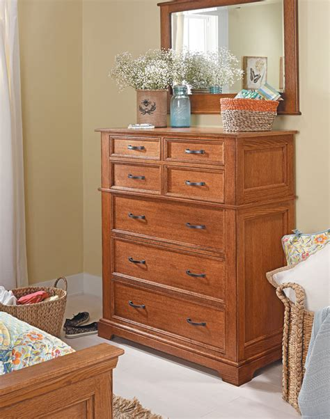 bedroom set oak dresser woodworking project woodsmith