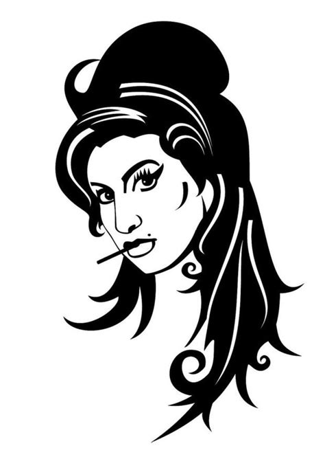 dibujo  colorear amy winehouse img