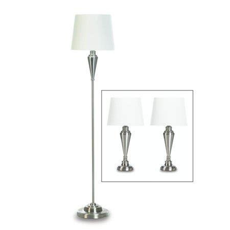 floor lamp set bedroom metal silver modern table lamps