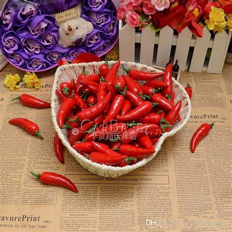 wholesale artificial vegetables pepper plastic chili model medium measurement chili model