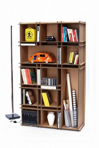 Cardboard Bookshelf Bookshelves Creative Diy Designs Carton