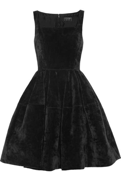 lyst lanvin velvet dress  black