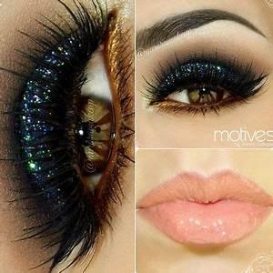 Black Glittery Eyeshadow Look - Share your looks on ...
