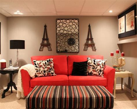 sofa vermelho e tapete preto 60 salas sof 225 vermelho incr 237 veis modelos como