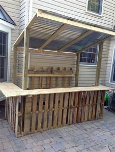 How To Build A Tiki Bar Out Of Pallets - WoodWorking