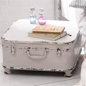 Beistelltisch Weiß Vintage : beistelltisch koffer design shabby chic metall wei ~ A.2002-acura-tl-radio.info Haus und Dekorationen