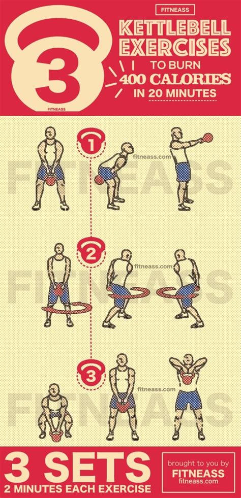 kettlebell exercises workout bullworker exercise workouts minutes calories fitness variety chart kettlebells routines wall isometric fitneass chest rusas con rusa